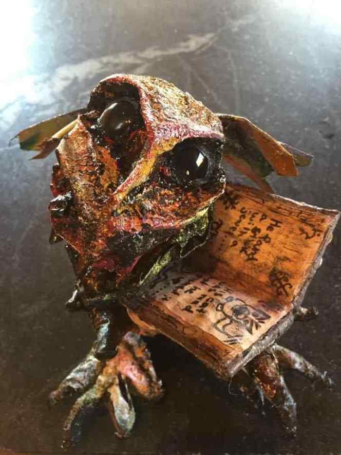 Joanne Secord's paper mache baby dragon
