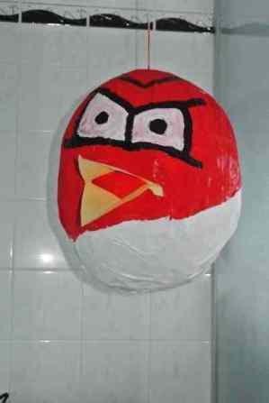 Jolene De Swardt's paper mache Angry Birds pinata