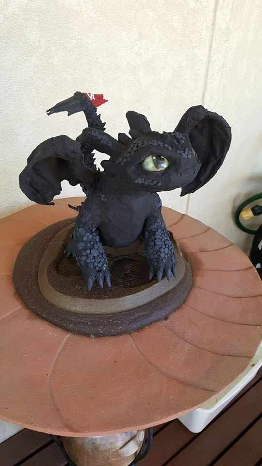 Kelly Mazzeo's paper mache Toothless