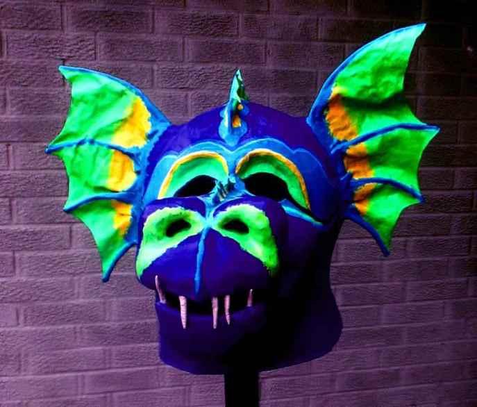 Mattie Sue Athan's paper mache mask
