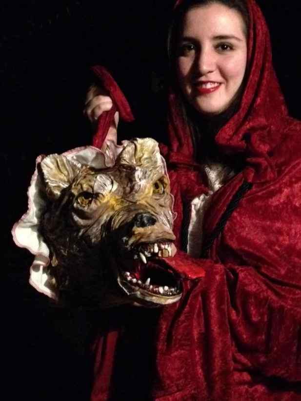 """Theresa De Hoyos's paper mache """"Big bad wolf"""""""