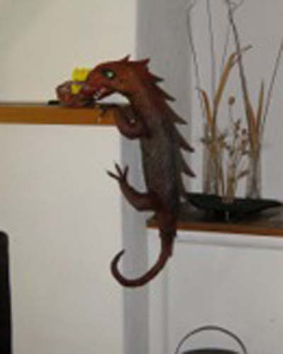 kathryns brothers paper mache dragon