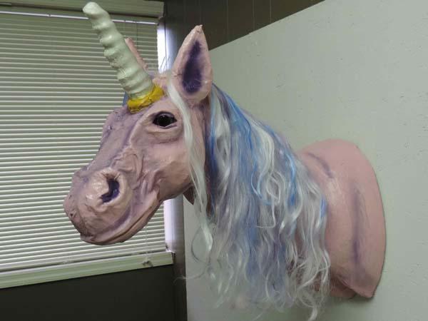 matt-nubies paper mache unicorn