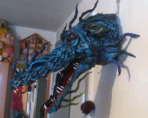 meikes paper mache dragon trophy2