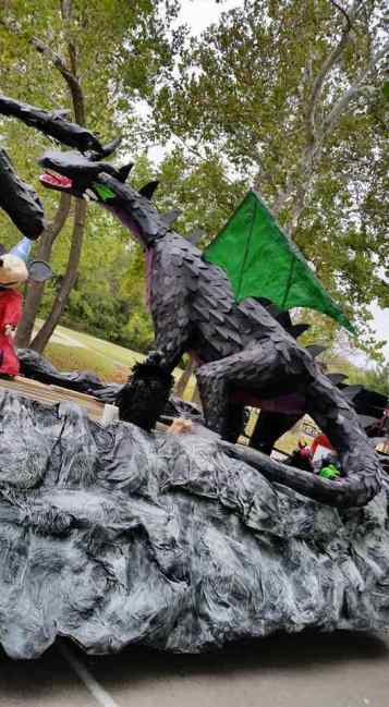 John Rose's paper mache dragon