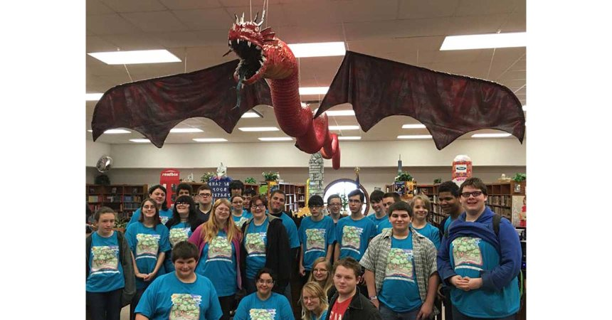"library club with ""Ramitheen"" dragon-featured"
