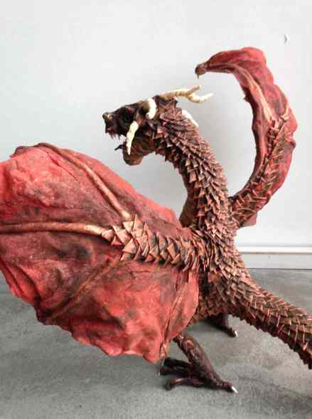 Maureen Pitz's paper mache dragon-back