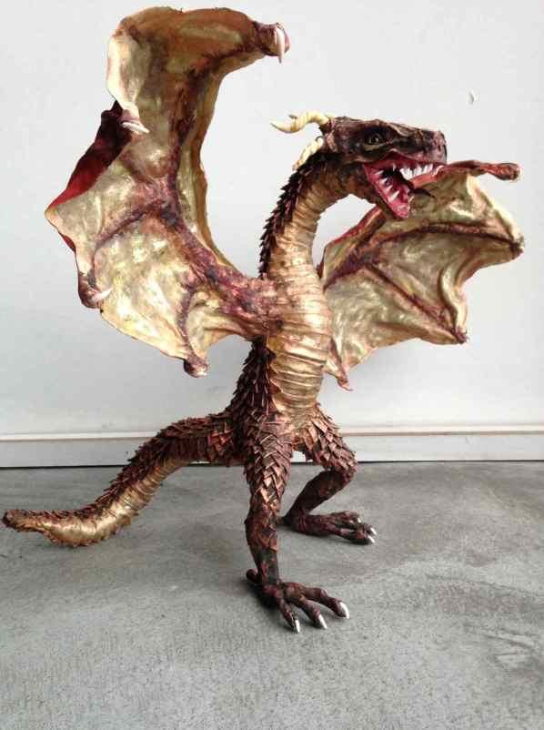 Maureen Pitz's paper mache dragon