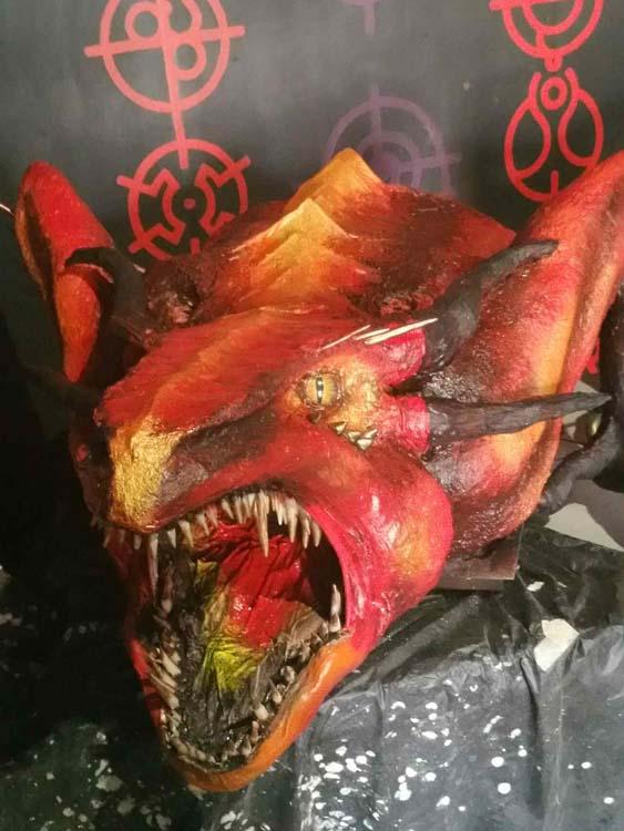Mimi Nouveau's paper mache dragon