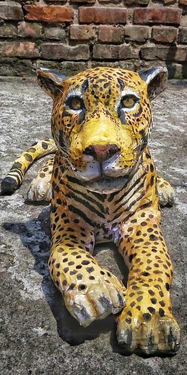 Sattik Halder's paper mache jaguar