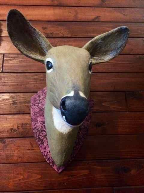 Susanne's paper mache deer head