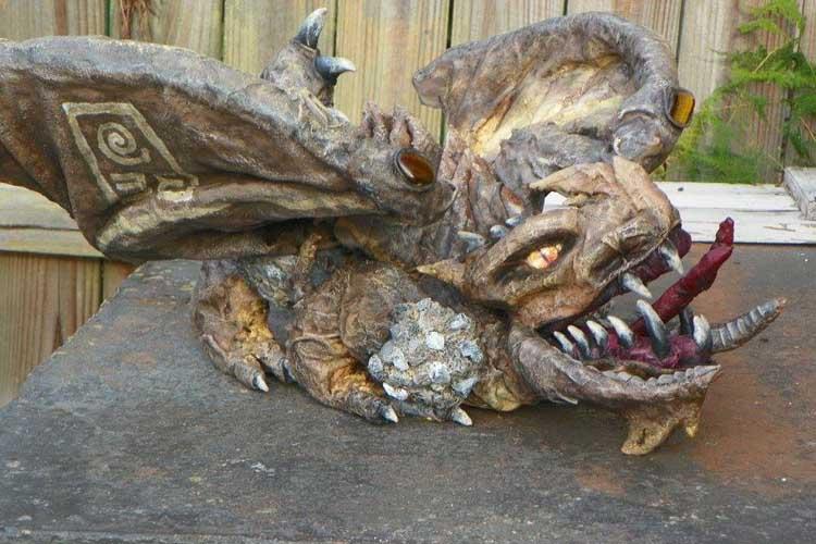 Alex Mitro's paper mache dragon
