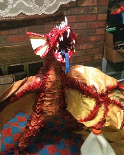 bens paper mache dragon 2