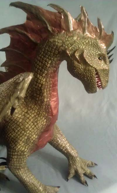 brittanys paper mache dragon2