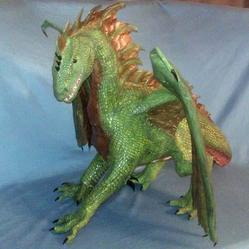 brittanys paper mache dragon3