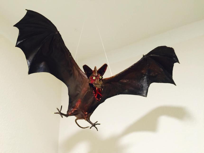 Jörg Gröger's paper mache bat