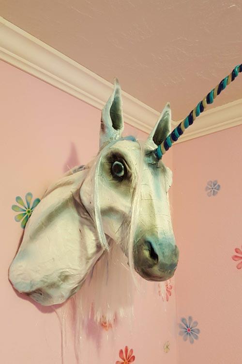 Michael Eck's paper mache unicorn