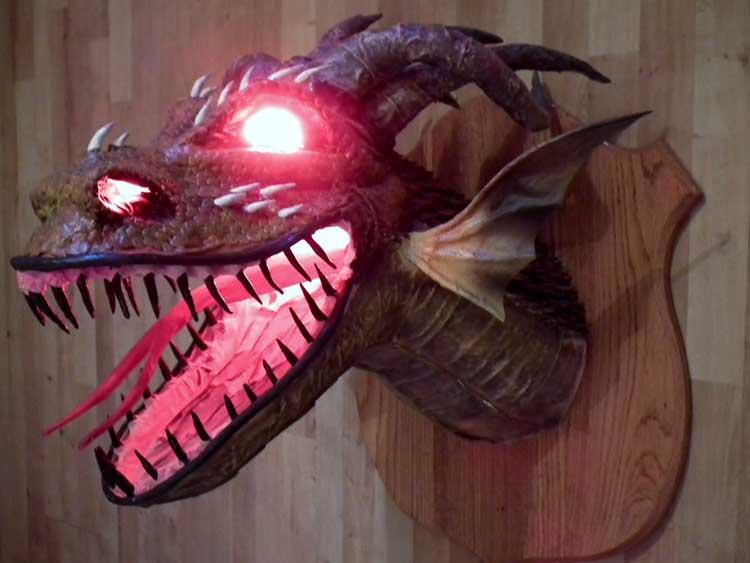 Paul Langwade's paper mache dragon