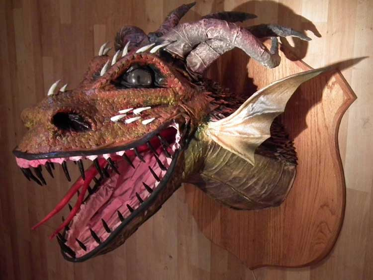 Paul Langwade's paper mache dragon2