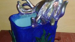 Phillip Stone's paper mache flower pot