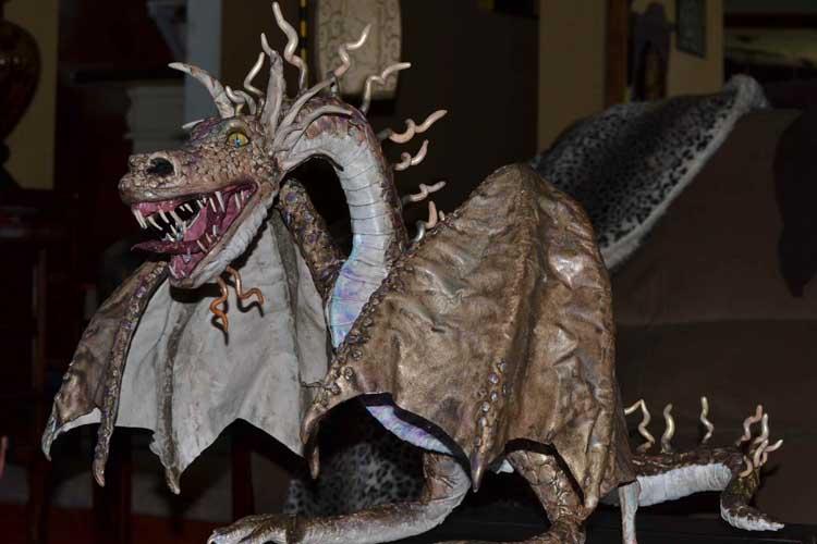 Rhonda Egeland's paper mache dragon