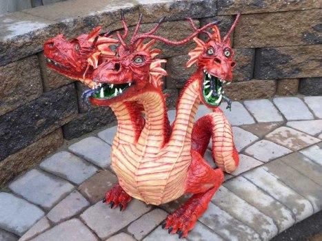 Roni Zelikson's paper mache dragon