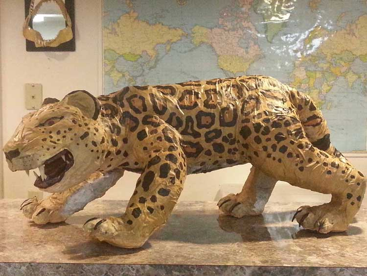 Ryan William's paper mache jaguar
