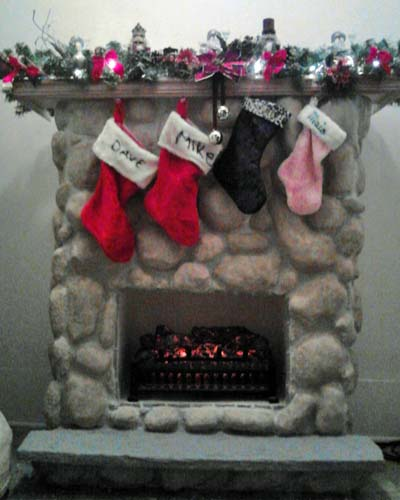 charlenes paper mache fireplace