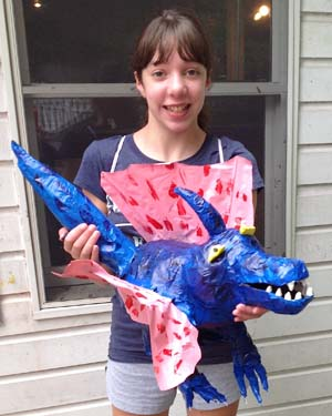 graces paper mache monster