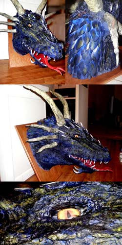 kasandras paper mache Dragon