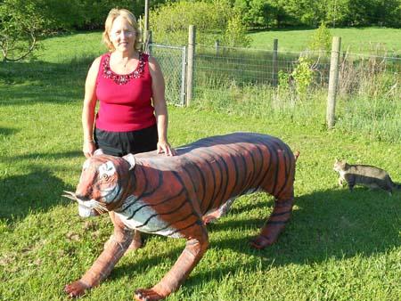 Kims paper mache Tiger