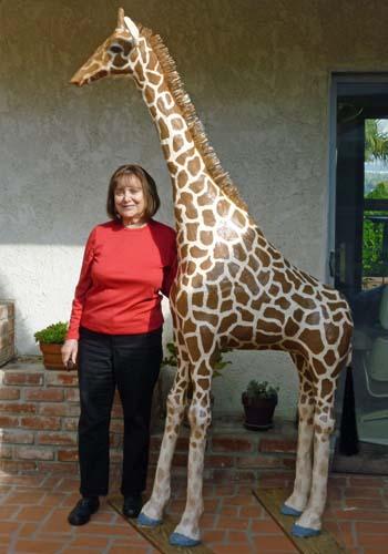 indas paper mache Sweet Pea giraffe