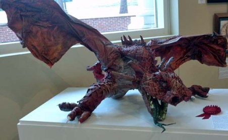 merediths paper mache dragon