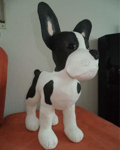 monis paper mache bulldog1