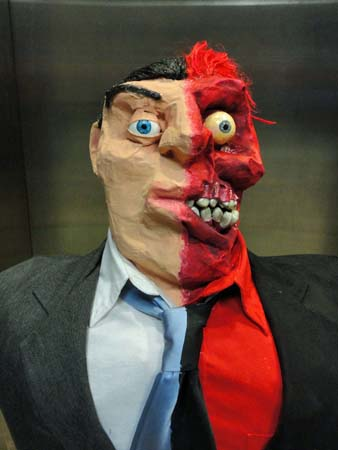 Mr Zack Browns paper mache Two Face