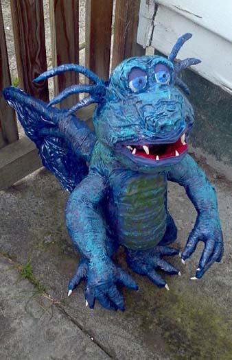 renees paper mache Dragon