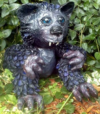 renees paper mache teddy dragon 1