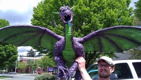 Robs paper mache dragon Gertrude