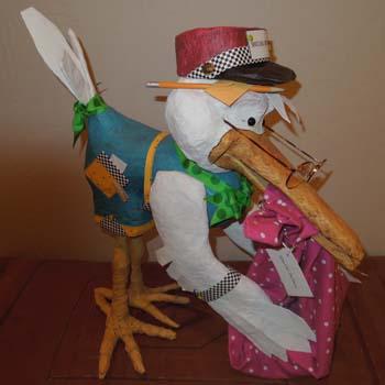 teris paper mache stork