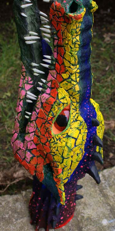 Bill's paper mache dragon trophy