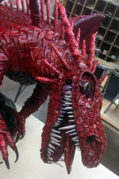 Ellice Taylor's student's dragon -close up
