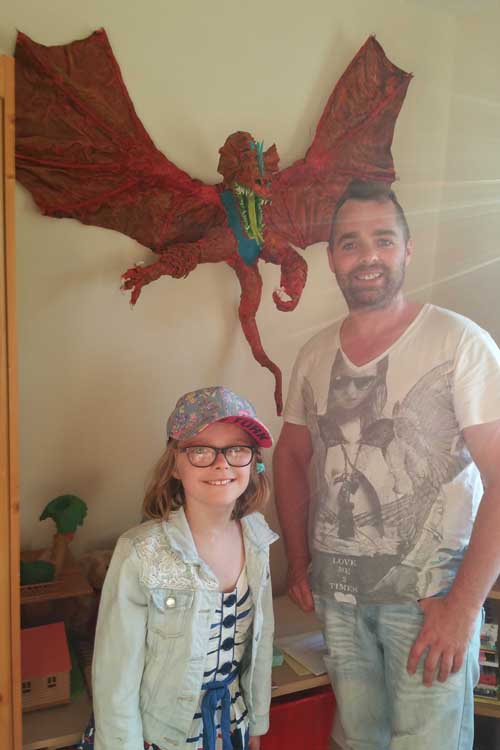Joe, his daughter and dragon