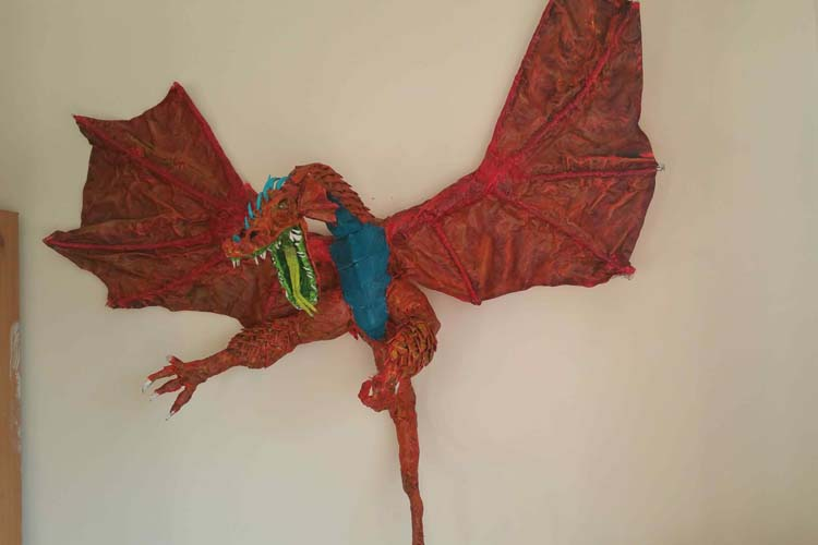 Joe's paper mache dragon