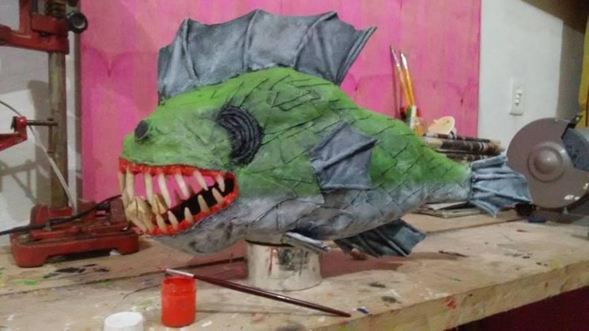 Junior Vieira's paper mache fish