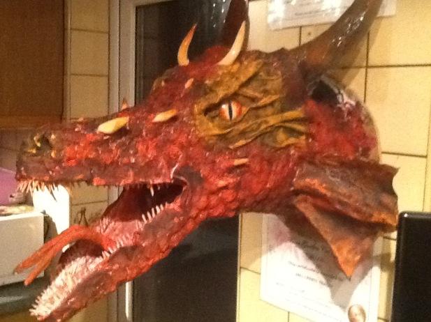 Rob Tracey's paper mache dragon