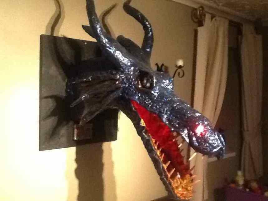 Robert Tracey's paper mache dragon