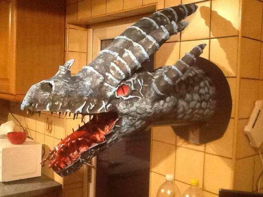 rob's paper mache dragon