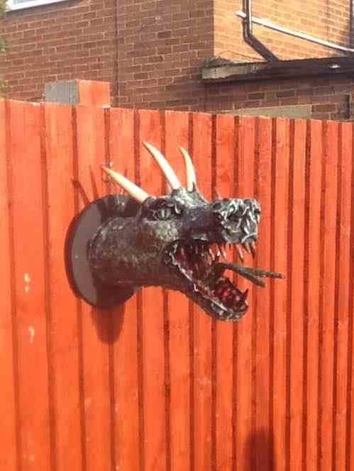 rob's paper mache dragon2