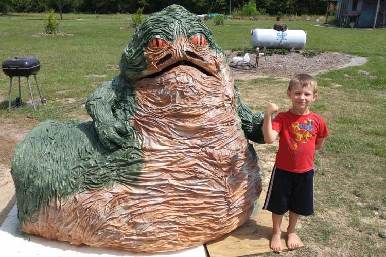 sara reynold's paper mache jabba