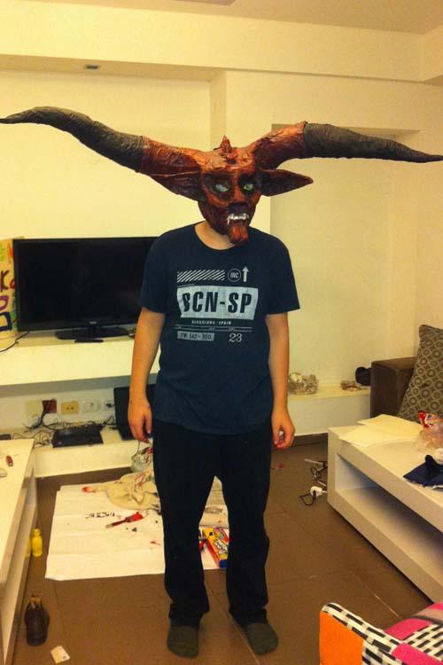 Yehonathan (and Alon) paper mache mask